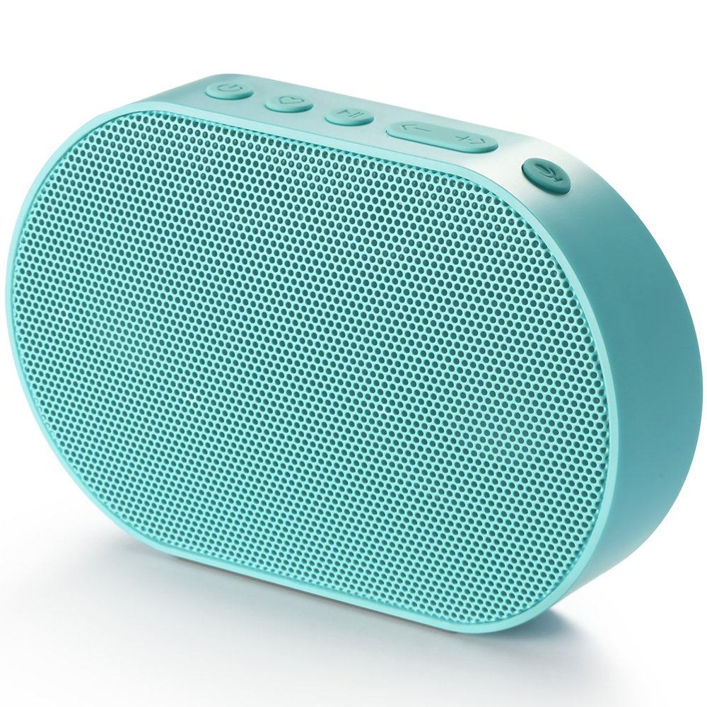 Wireless Speakers, GGMM WiFi Bluetooth Speakers with Alexa Built-in, Press-Activated App Talking Voice Control, Palm Size Indoor AirPlay Spotify Multi Room Smart Speaker 10W, E2 Blue …