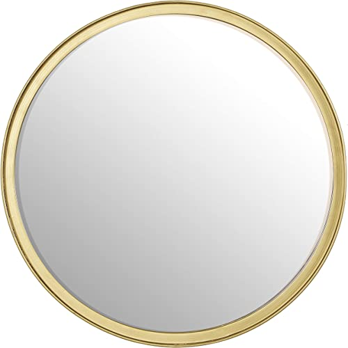 RiteSune Round Gold Wall Mirror 14 Inch for Bathroom Entry Dining Room Living Room Wall Decor Medium
