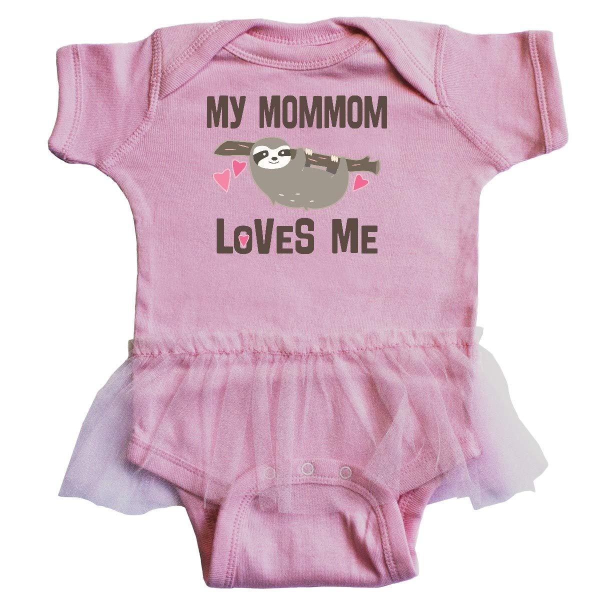 inktastic Mommom Grandma Loves Me Sloth Baby T-Shirt
