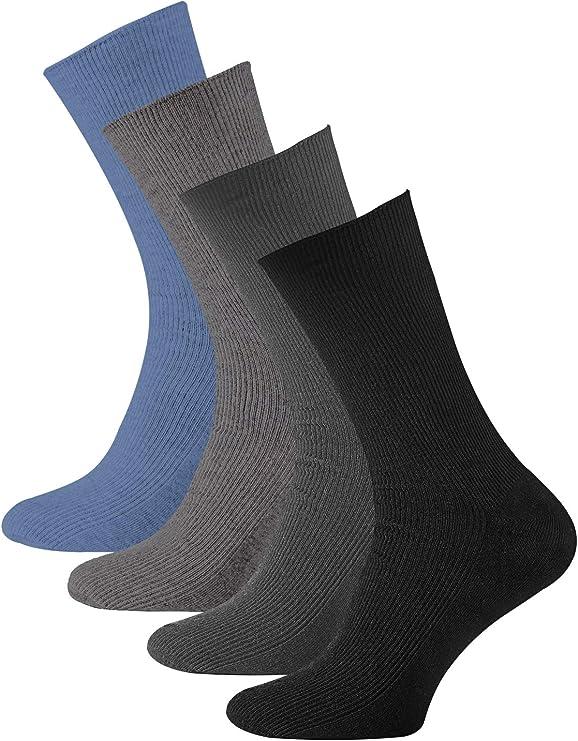 pack de 8 Calcetines lisos sin goma o elástico algodón para hombre, Calcetines diabéticos: Amazon.es: Ropa y accesorios