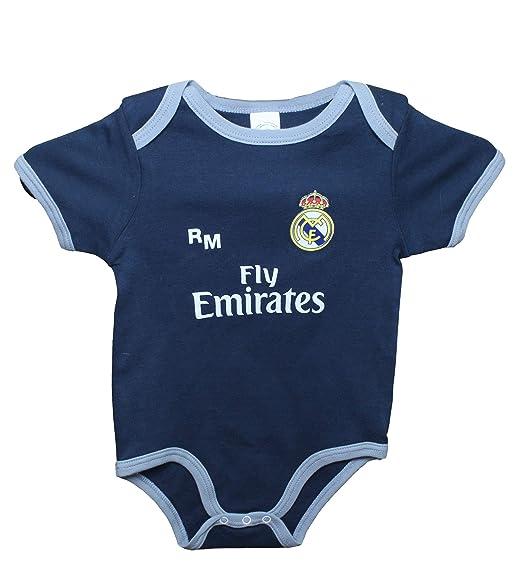 Real Madrid FC Body Niños - Producto Oficial Segunda Equipación 2018 2019  (1 Mes efdc2c83cce26