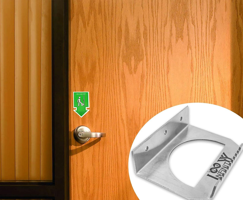 Office Building and Any Commercial Building Doors Restaurants 420 Stainless Steel 2 Pack Set INFINITYY24 Hands Free /& Foot Pull Door Opener Schools Door Foot Pull for Restrooms Hospitals