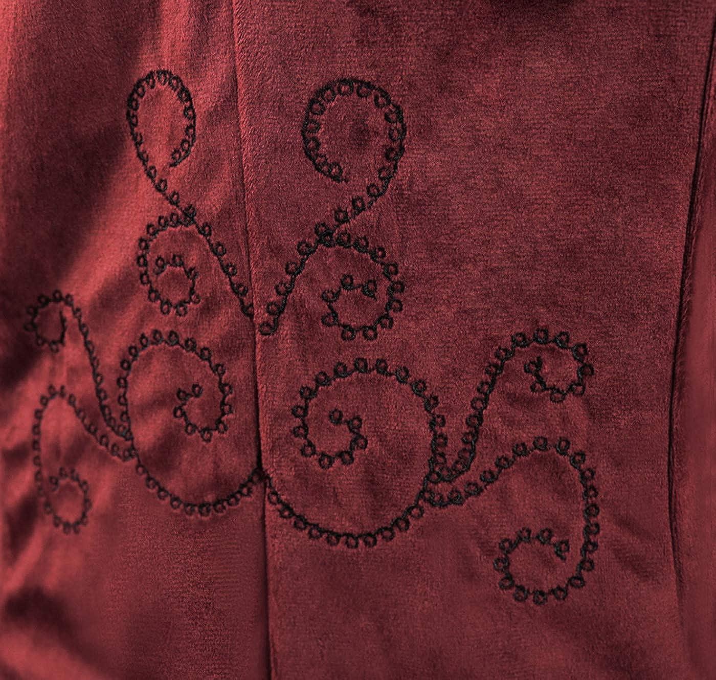 dise/ño de Uniforme Rojo XXL BAIHUODRESS Abrigo g/ótico Steampunk para Hombre