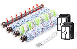 1785A,2306A Replacements 1 Set Pet & Multi Surface & Wood Floor & Area Rug Brush Rolls and 2 Pack 1866 Filters Compatible with Bissell CrossWave 1785 2306 2551 Series Wet Dry Vacuum Cleaner