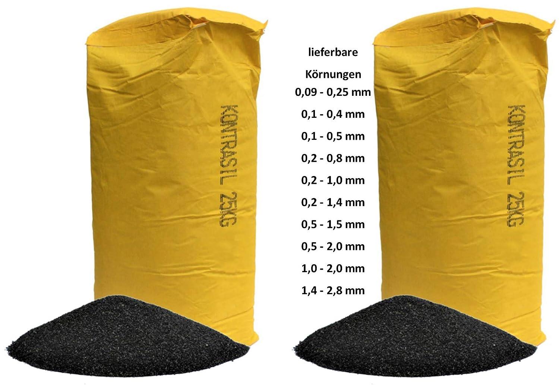 0,1-0,5 mm 2 mal 25 kg Strahlmittel Kontrasil Strahlgut Sandstrahlen alle K/örnungen