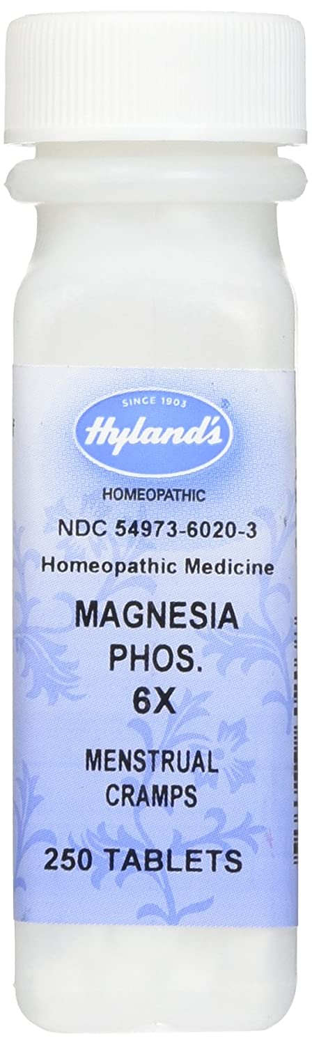 Amazon.com: Hylands Magnesia Phosphorica 6X Tablets, Natural Relief of Muscle Cramps, Menstrual Cramps or Pain, 250 Count: Health & Personal Care