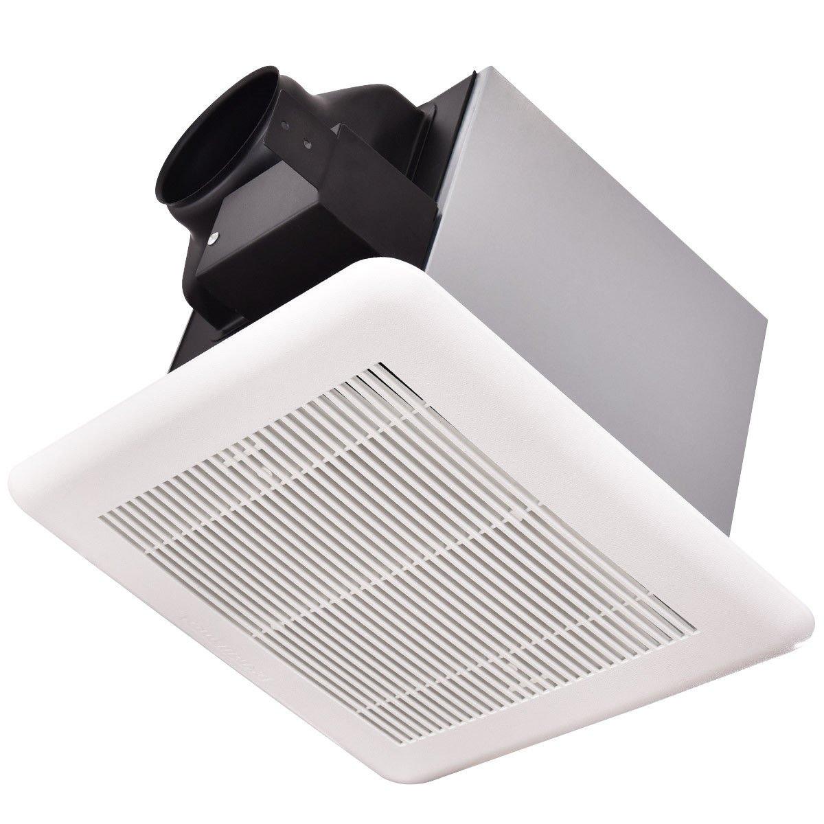 Bathroom 100 CFM Ceiling Wall Mounted Exhaust Fan Air Ventilation 1 Sone White
