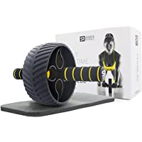 Sports Research Sweet Sweat Ab Wheel | Abdominal Exercise Wheel for Core Strength Training | with Knee Pad