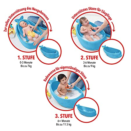 Skip Hop Moby Baby Bath Tub 3 In 1 Smart Sling Blue Amazon Ca Baby