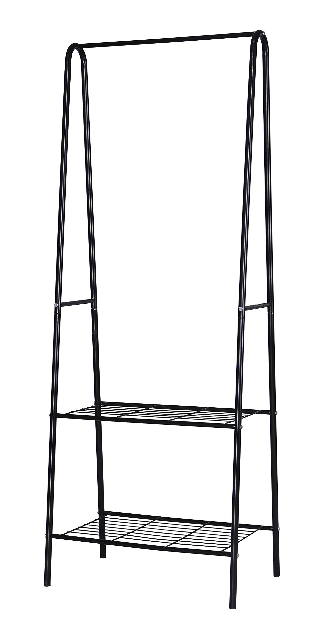 "MULSH Clothing Garment Rack Coat Organizer Storage Shelving Unit Entryway Storage Shelf 2-Tier Metal Shelf in Black, 24.0""Wx15.2""Dx63""H - STURDY GARMENT RACK:Made of diameter 19mm powder-coated metal tubes and high quality metal wires ,this garment rack is durable while using. 2-TIER COAT RACK:Enough storage space to meet various demands,totally 2-tier of shelves to store folded clothes ,accessories,quilt,storage boxes ,shoes etc.1 top rod can hang garment and coats. KEEP YOUR STUFF WELL-ORGANIZED CLOTHING RACK:This garment rack is solid and easy-moving.And it measures 24.02""Wx15.16""Dx63.01""H.Weight:Approx.7.46lbs/3.39kgs.So its perfect size makes it great for any place of your home without occupying too much space,such as balcony hallway,laundry room,entryway or closet. - hall-trees, entryway-furniture-decor, entryway-laundry-room - 71PFiJcqPkL -"