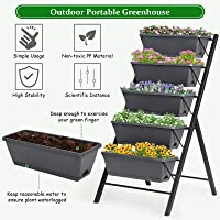 Deals on Costway 4 ft Vertical Raised Garden Bed with 5 Tiers