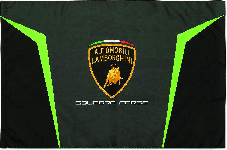 Lamborghini Squadra Corse Flag Black/Gray/Green 71PFjJxX65L
