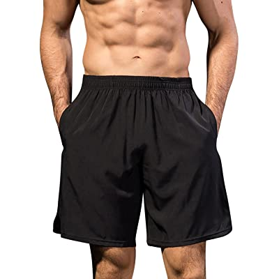 FASKUNOIE Men's Quick Dry Basketball Shorts Sports Running Shorts with Pockets