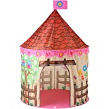 Princess Castle Play Tent Foldable Childrens Play Tent with Carrying Case for Indoor & Outdoor Use (Rose Pink)