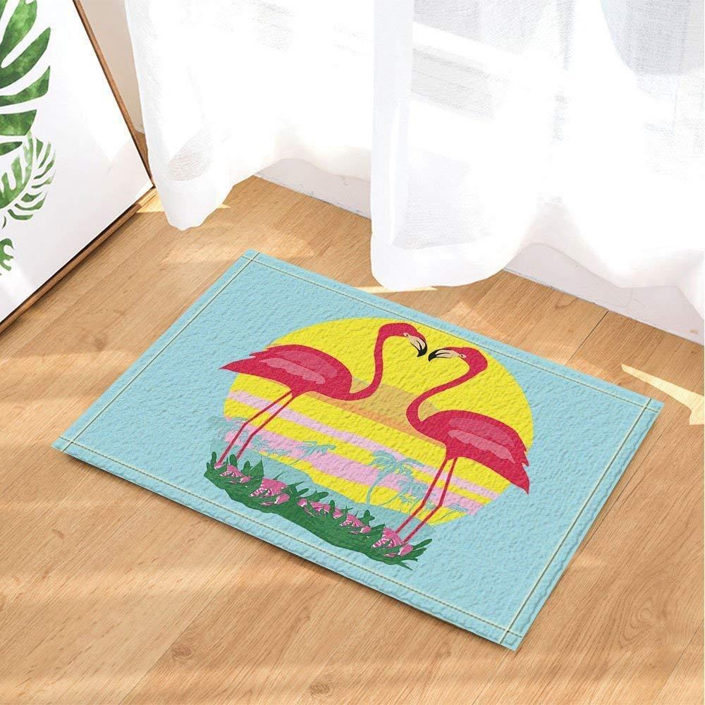 Ameublement et décoration Salle de bain et WC fdsdatrfet Flamingo Flower Sun Animalbathroom Tapis Antidérapant Moule Tapis de Bain Tapis de Bain Tapis de Bain Salle de Bains Anti-Dérapant Protection de lenvironnement à Séchage Rapide