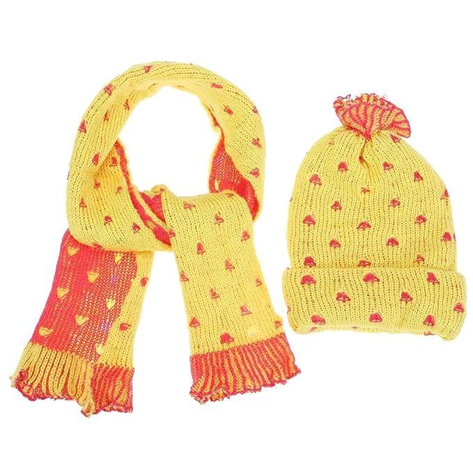 Domybest 2pcs Cappello Neonato Invernale + Sciarpa Invernale Cappello  Neonato Caldo di Lana per Neonati 4ad5fb7bae9d