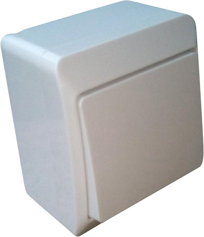 Interrupteur /à monter en saillie pour pi/èce humide iP44 convient s/érie dinterrupteurs blanc