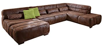Cavadore Wohnlandschaft Scoutano In Antiklederoptik Xxl Couch In U