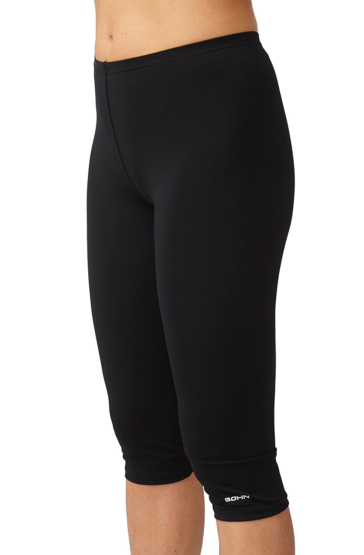 Bleu fonc/é ou Noir Bohn Swimwear Leggings de Bain 3//4 Femme