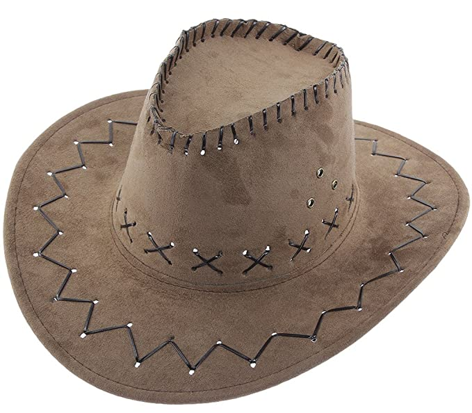 77aef69dd5c61 COMVIP Unisex Womens Mens Western Cowgirl Cowboy Hat Summer Sun Caps Beige