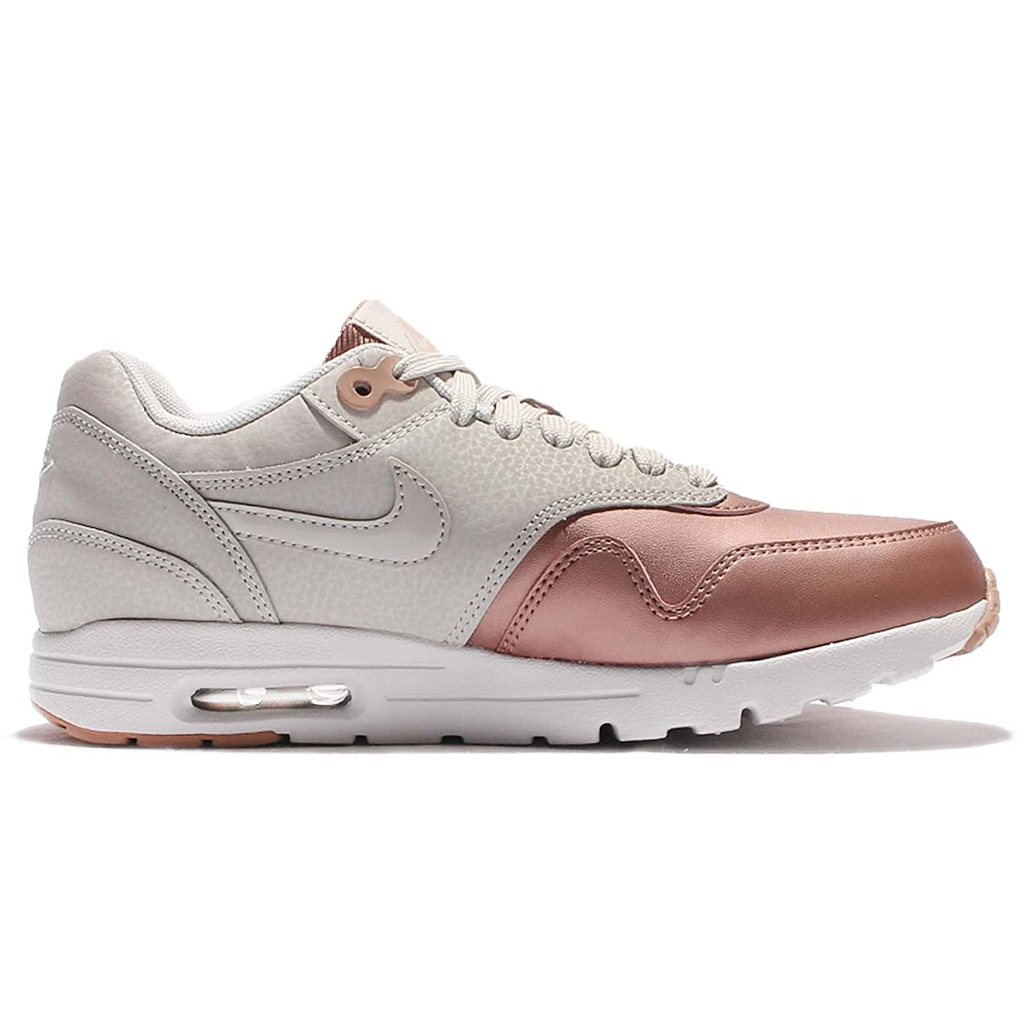Nike Women's Wmns Air Max 1 Ultra SE, LIGHT BONELIGHT BONE MTLC RED BRONZE, 6 US