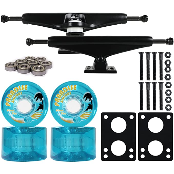 La división Longboard camiones emad TGM/ruedas/rodamientos negro 6,0 + Bigfoot 65 mm Isleños azul: Amazon.es: Deportes y aire libre