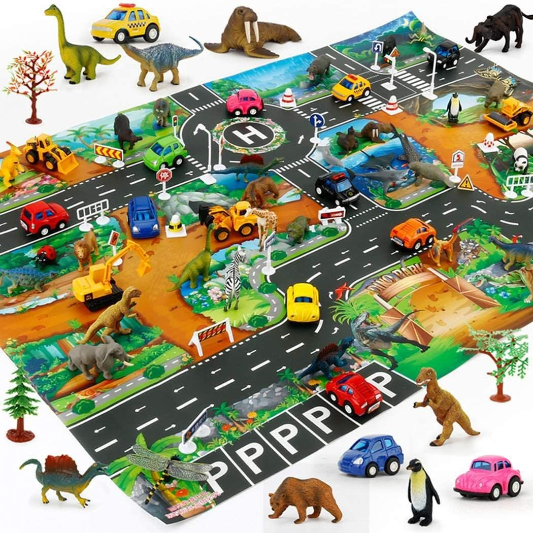 Adoeve Home Children Boys Girls Simulation Road Animal Play Mat Baby Gyms /& Playmats
