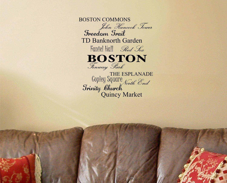 Amazon.com: Newsee Decals Boston Commons, John hancock tower ...