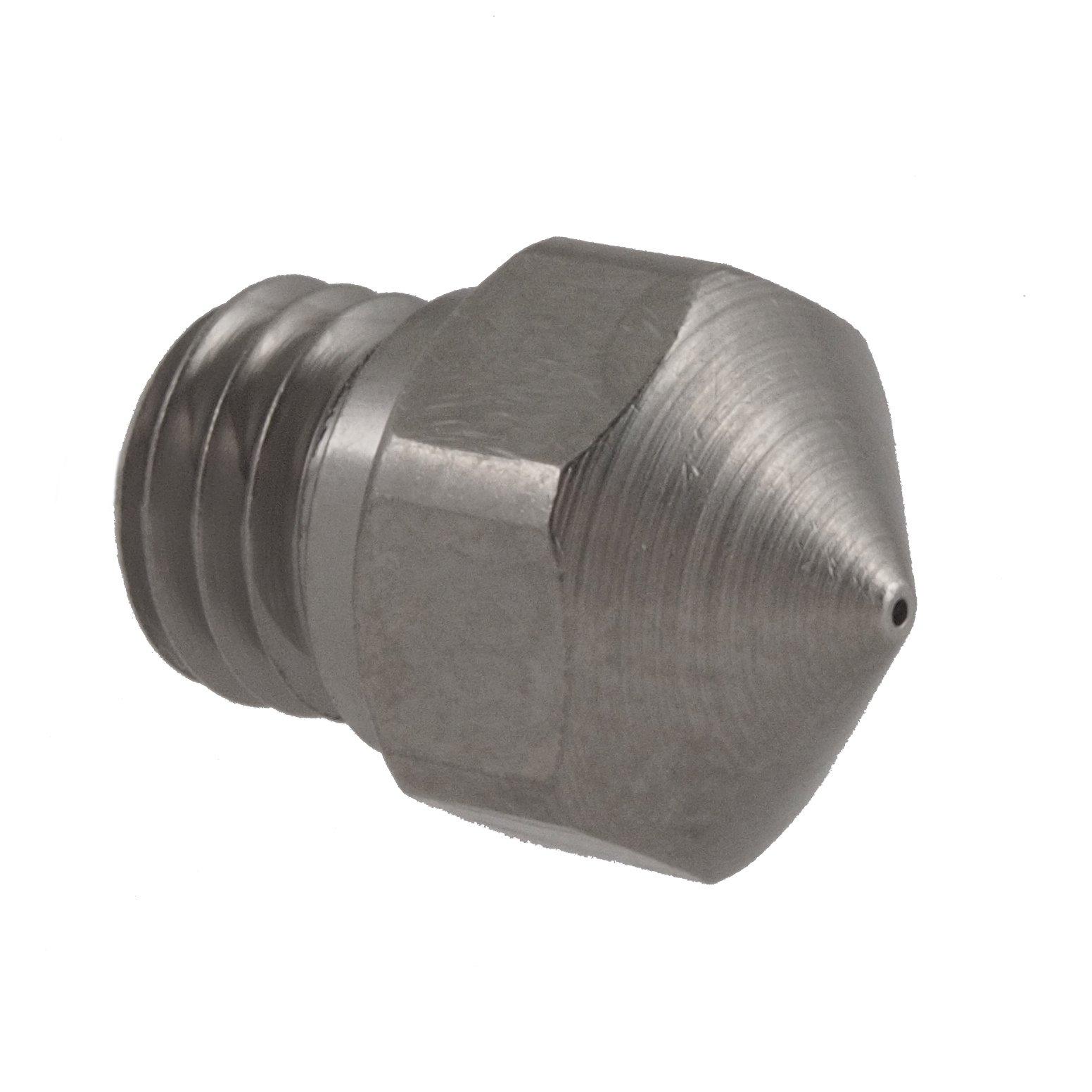 Micro-Swiss HW-NOZ-MK10-04 Plated Brass Wear Resistant Nozzles, 1.75 mm, MK10 (Flash Forge/Dremel/Wanhao) 0.4 mm, Bright Nickel