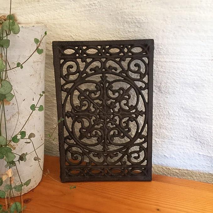 Antikas - reja antigua de hierro fundido - reja para la ventilación de aire caliente de chimeneas - rejas de chimeneas estufas: Amazon.es: Bricolaje y ...