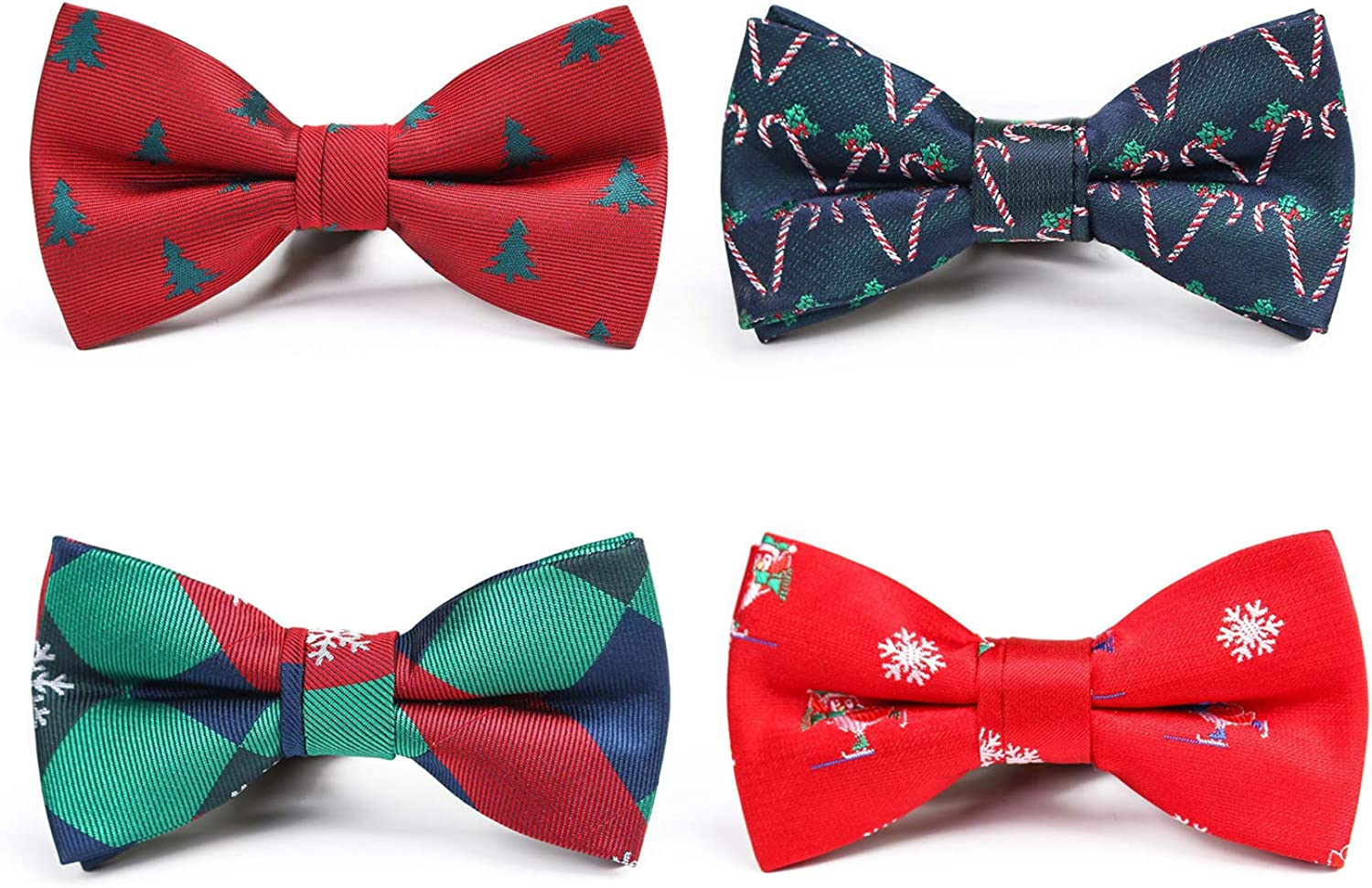Amazon Com Boys Christmas Theme Holiday Pre Tied Bow Ties Wedding Party Dress Up Bowties Style B Clothing