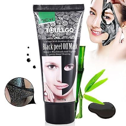 Black Mask Máscara, Máscara Negra de carbón activo, Mascarillas Exfoliantes y Limpiadoras, Peel