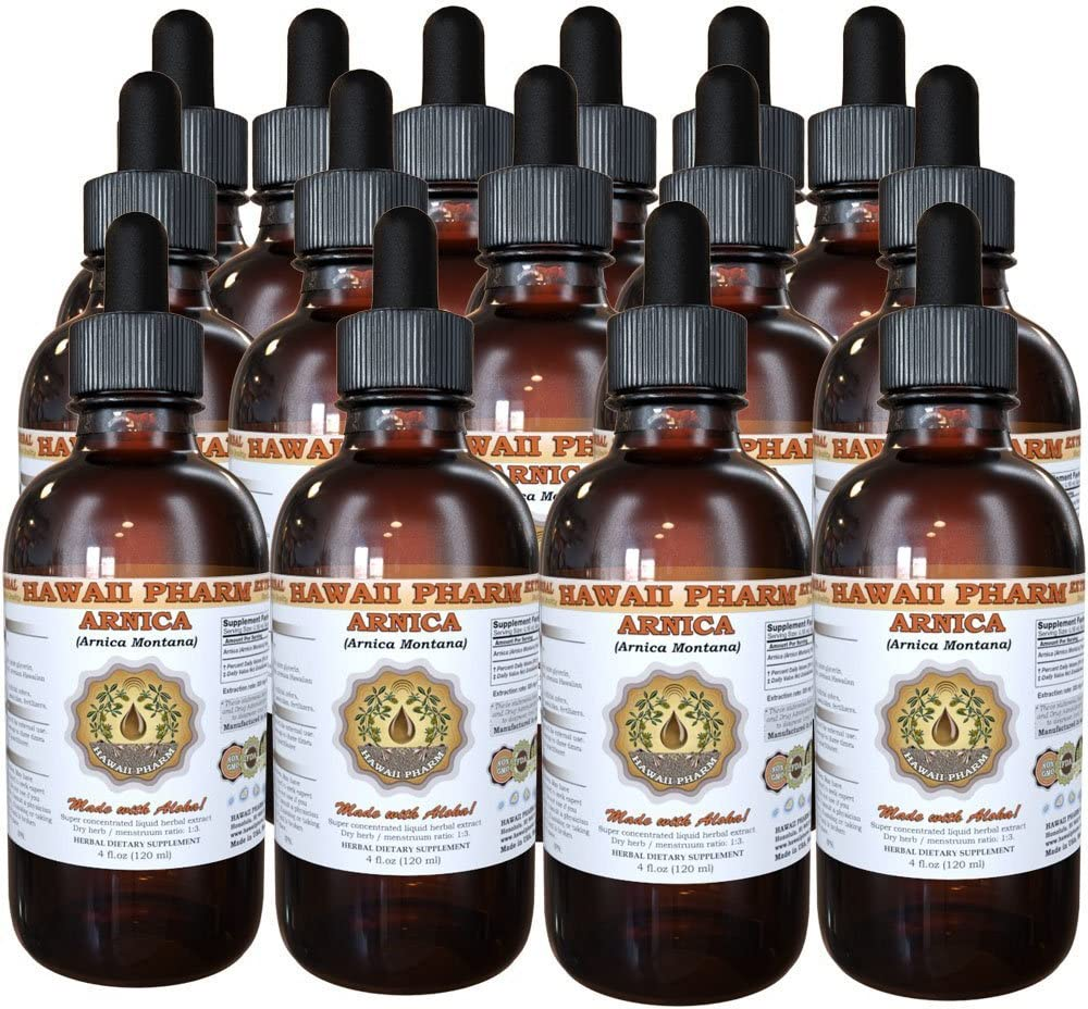 Arnica Liquid Extract, Organic Arnica Arnica Montana Dried Flowers Tincture 15×4 oz