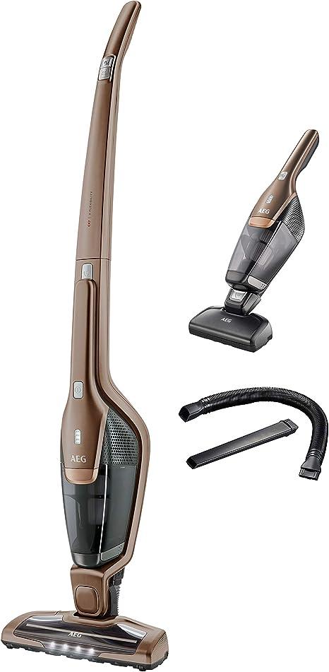 AEG CX7-2-B360 Aspiradora Escoba Sin Cable y de Mano Múltiples Cepillos, hasta 45 Minutos, 2 Velocidades, Cepillo 180º, 79dB, Función Limpieza Cepillo, Luces Cepillo LED, Depósito 0.5L, Bronce: Amazon.es: Hogar