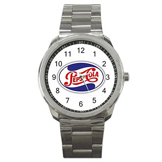 Pepsi-Cola USA Drink ES9WLGO659 Relojes de pulsera Mens Wristwatches Stainless Steel