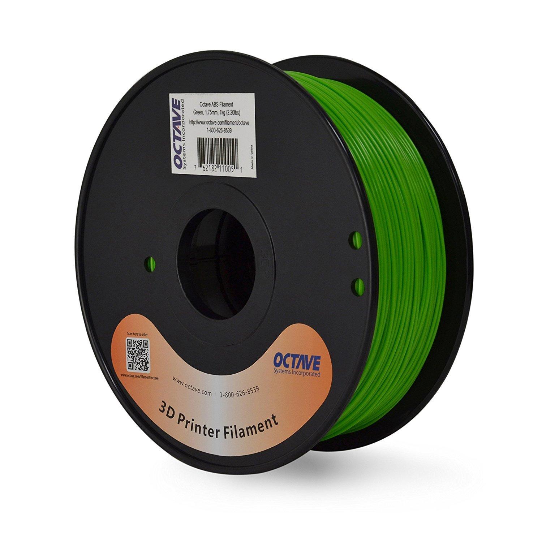 Octava verde ABS Filamento para impresoras 3d - 1,75 mm 1 kg ...