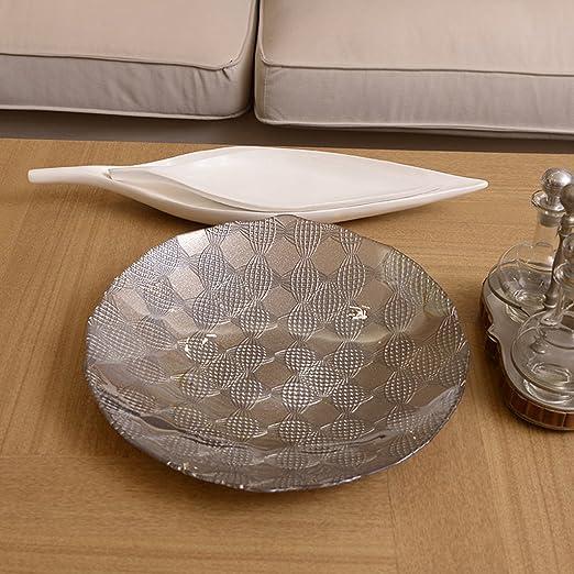 Amazon Com European Style Glass Round Silver Fruit Dish Fruiting