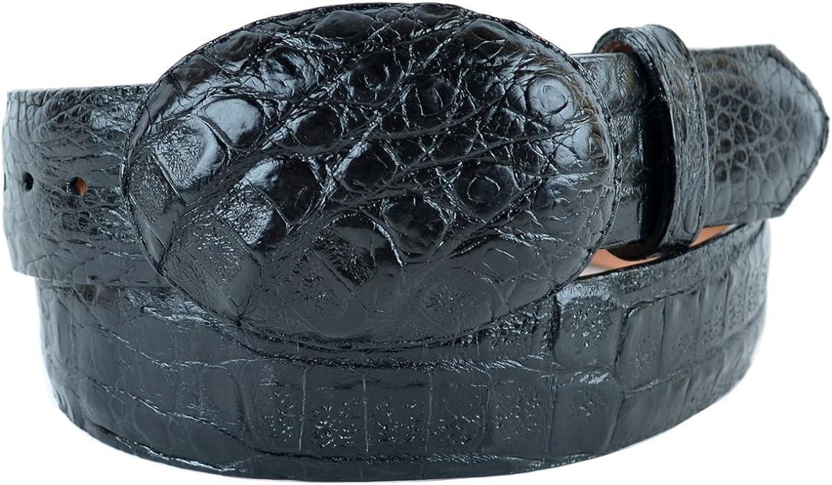 Gator Original Black Caiman Belly Skin Western Style Belt