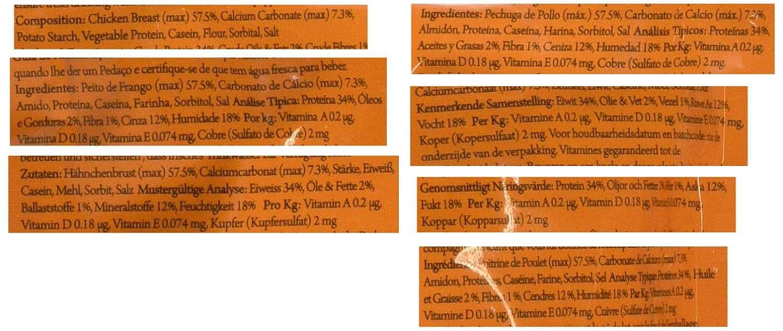 Pet Supplies : Pet Munchies Chicken and Calcium Bones Dog Treats, 100 g : Amazon.com