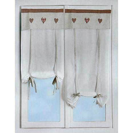 Coppia Tende tendine regolabili vetro finestra 60x150 cm Maggie M375 ...