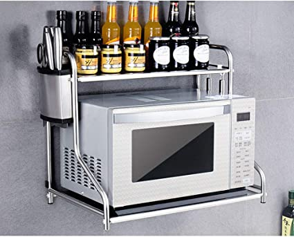 alxdr kitchen microwave oven rack wall