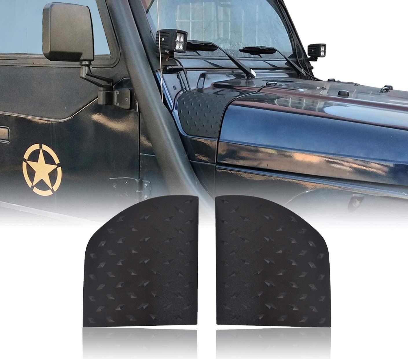 Jeep Wrangler TJ 1997-2006 u-Box Black Cowl Side Body Armor Corner Guard