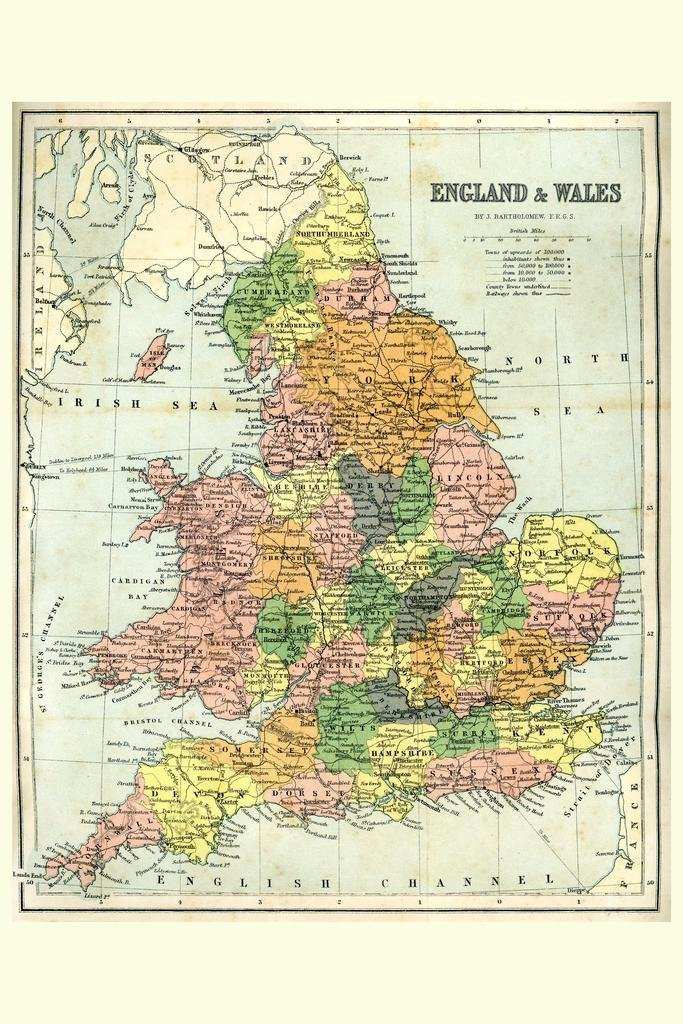 Amazon England And Wales 19th Century Antique Style Map Poster 12x18 Inch Posters Prints