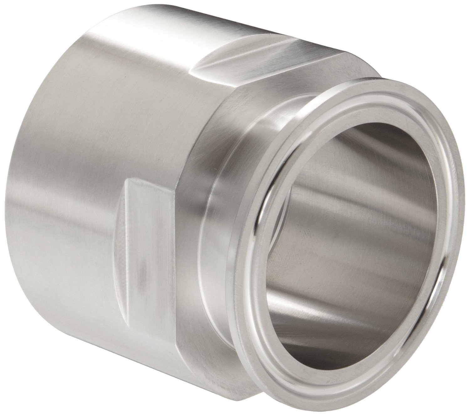 Dixon 22MP-G200 Stainless Steel 304 Sanitary Fitting, Clamp Adapter, 2'' Tube OD x 2'' NPT Female