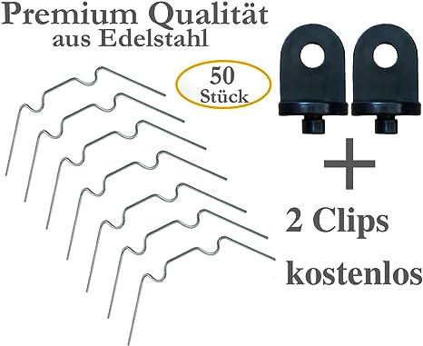 Kronly 50 Stuck Gewachshaus Klammern Aus Edelstahl Rostfrei