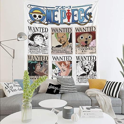 Anime Tapestry Cartoon One Piece Bedroom Tapiz De Tapiz De ...