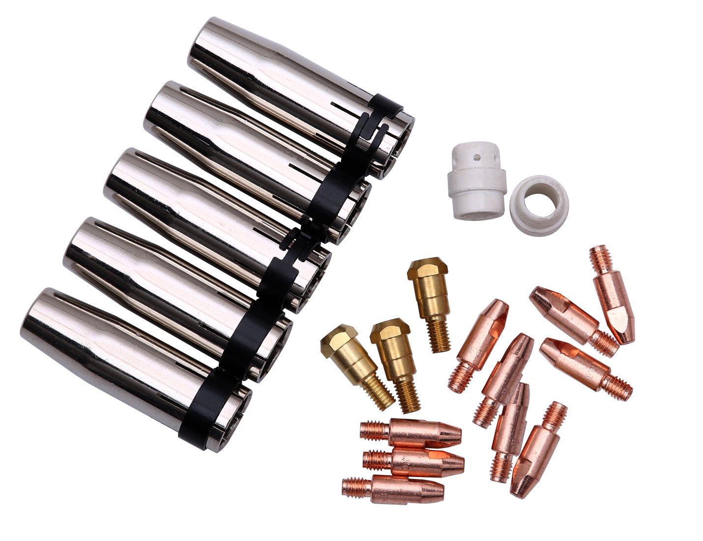 Weldflame 20Pcs MB-24KD Gas Nozzle145.0080 Contact Tip 0.8mm Contact Tip Holder Diffuser Weldflame Co Ltd