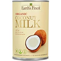 Earth's Finest Organic Coconut Milk - 400ml   Pure Organic Coconut Milk for Professional and Home Cooking   100% Plant…