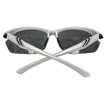 MLC xflame Eyewear Semi-Rimless Sunglasses Silver Frame Smoke Lenses with Comfortable Rubber Cushion Pad.