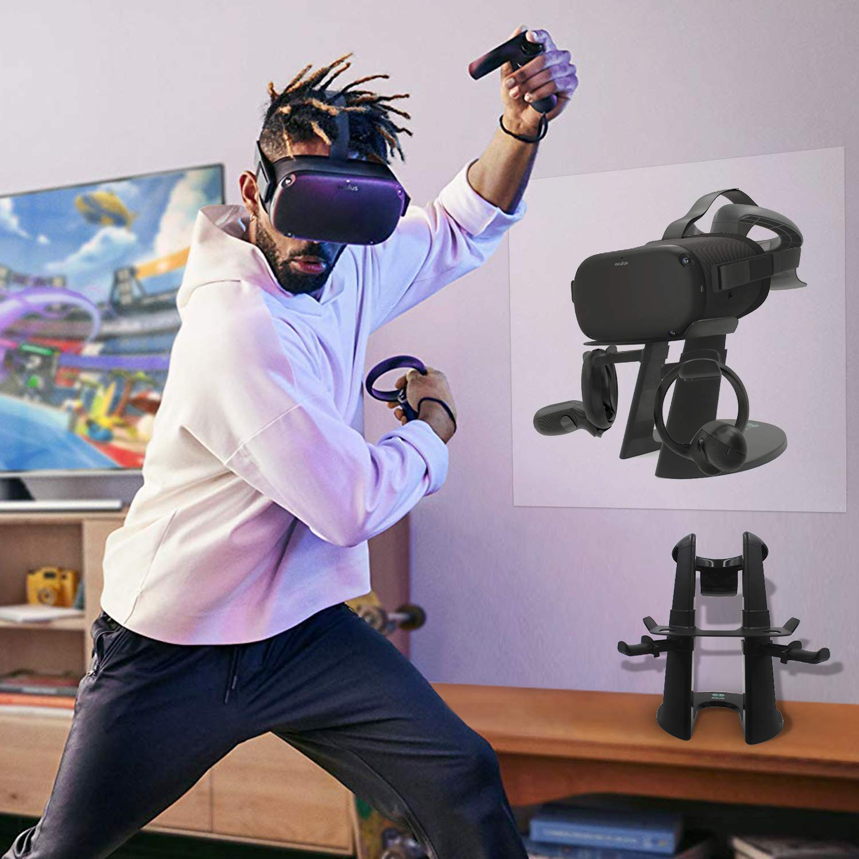 Soporte para Auriculares Oculus Rift S//Oculus Quest y Controlador t/áctil AFAITH VR